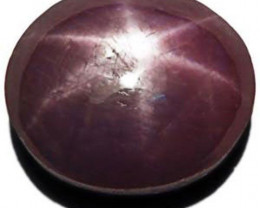 Sierra Leone Star Ruby, 7.79 Carats, Purple Oval