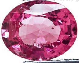 GII Certified Madagascar Ruby, 2.29 Carats, Deep Pink Oval