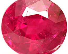 IGI Certified Burma Ruby, 0.90 Carats, Dark Pinkish Red Oval