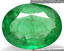 Zambia Emerald, 1.39 Carats, Dark Green Oval