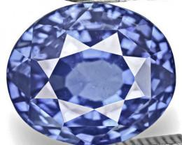 IGI Certified Sri Lanka Blue Sapphire, 4.09 Carats, Velvety Intense Blue