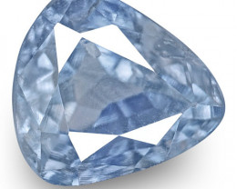 IGI Certified Kashmir Blue Sapphire, 0.52 Carats, Lively Blue Fancy Cut