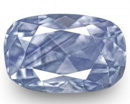 IGI Certified Kashmir Blue Sapphire, 1.34 Carats, Velvety Violetish Blue