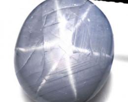 Burma Fancy Star Sapphire, 11.48 Carats, Greyish White Oval