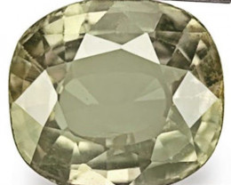 AIGS Certified Madagascar Fancy Sapphire, 3.65 Carats, Greyish Green