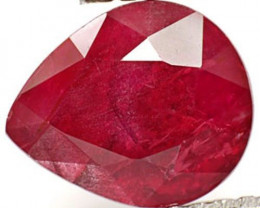 AIGS Certified Tanzania Ruby, 2.15 Carats, Maroonish Red Pear