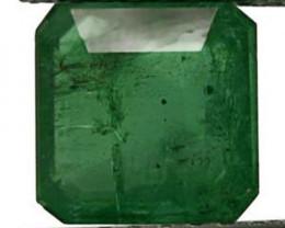Colombia Emerald, 2.74 Carats, Dark Green Emerald Cut