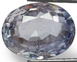 AIGS Certified Sri Lanka Blue Sapphire, 5.43 Carats, Pale Blue Oval