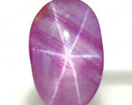 Sri Lanka Fancy Star Sapphire, 2.10 Carats, Pink & White Oval