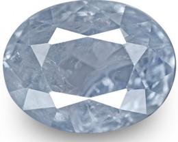 GIA Certified Kashmir Blue Sapphire, 2.69 Carats, Soft Velvety Blue Oval