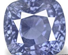 IGI Certified Madagascar Blue Sapphire, 5.13 Carats, Intense Blue Cushion