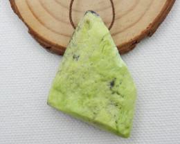 96cts Raw Serpentine ,Handmade Gemstone ,Serpentine Stone D751