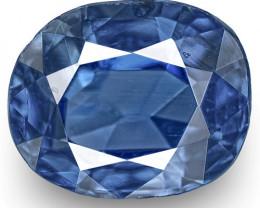 IGI Certified Kashmir Blue Sapphire, 0.76 Carats, Rich Royal Blue Oval