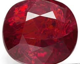 Mozambique Ruby, 1.24 Carats, Dark Purplish Red Oval