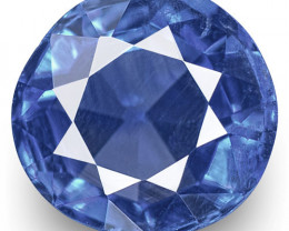 IGI Certified Kashmir Blue Sapphire, 0.54 Carats, Cornflower Blue Round
