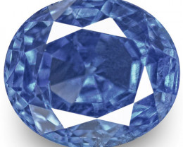 GIA Certified Kashmir Blue Sapphire, 0.87 Carats, Vivid Cornflower Blue
