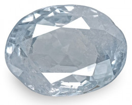 GIA Certified Kashmir Blue Sapphire, 2.92 Carats, Very Light Blue Oval