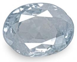 GIA Certified Kashmir Blue Sapphire, 2.92 Carats, Very Light Blue Oval