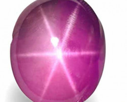 Sri Lanka Fancy Star Sapphire, 4.22 Carats, Deep Pinkish Purple Oval