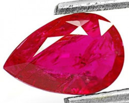 IGI Certified Mozambique Ruby, 1.26 Carats, Magenta Red Pear
