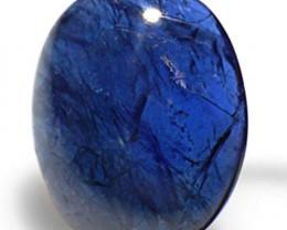 AIGS Certified Burma Blue Sapphire, 3.04 Carats, Dark Blue Oval