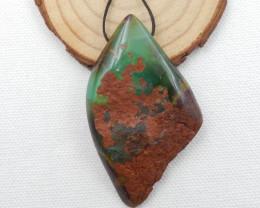 New Chrysoprase Pendant , Irregular Pendant , Chrysoprase gemstone pendant