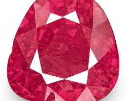 IGI Certified Burma Ruby, 2.64 Carats, Lively Pinkish Red Fancy Cut