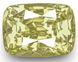 GIA Certified Sri Lanka Yellow Sapphire, 3.65 Carats, Lustrous Yellow