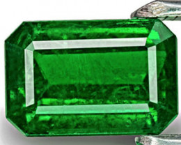 Brazil Emerald, 4.48 Carats, Rich Velvet Green Emerald Cut