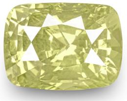GIA Certified Sri Lanka Yellow Sapphire, 4.12 Carats, Lustrous Yellow