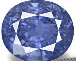 IGI Certified Burma Blue Sapphire, 3.33 Carats, Velvety Intense Blue Oval