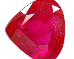 IGI Certified Burma Ruby, 0.68 Carats, Blood Red Heart