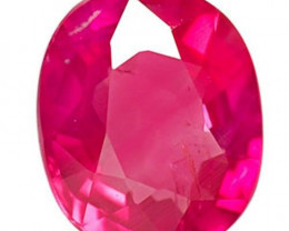 Burma Ruby, 0.74 Carats, Lustrous Pinkish Red Oval