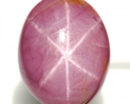 Vietnam Fancy Star Sapphire, 6.35 Carats, Purplish Pink Oval