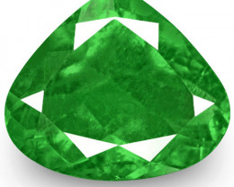 Colombia Emerald, 0.62 Carats, Deep Green Pear