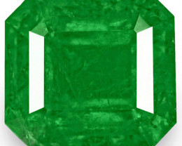 Colombia Emerald, 0.76 Carats, Royal Green Emerald Cut