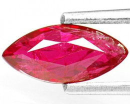 IGI Certified Mozambique Ruby, 0.93 Carats, Intense Purplish Red Marquise
