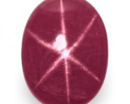 IGI Certified Vietnam Star Ruby, 3.67 Carats, Deep Pinkish Red Oval