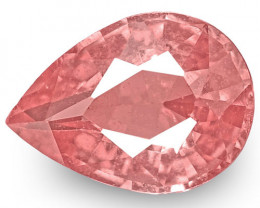 IGI Certified Sri Lanka Padparadscha Sapphire, 0.72 Carats, Pear