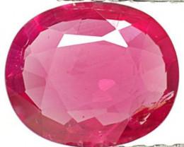 IGI Certified Burma Ruby, 0.74 Carats, Intense Pinkish Red Oval