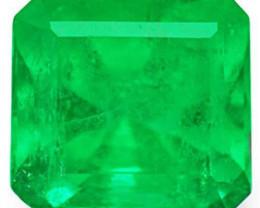 Colombia Emerald, 1.60 Carats, Lustrous Green Emerald Cut