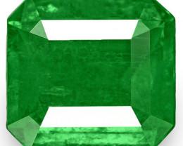 Colombia Emerald, 0.94 Carats, Deep Royal Green Emerald Cut