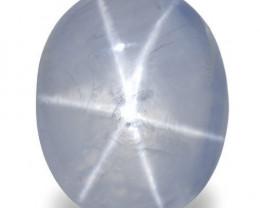 Sri Lanka Blue Star Sapphire, 16.94 Carats, Light Blue Oval