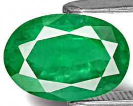 Zambia Emerald, 2.42 Carats, Deep Green Oval