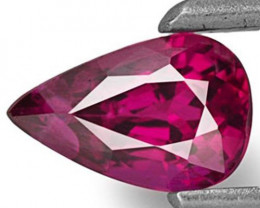 Mozambique Ruby, 0.61 Carats, Deep Pinkish Red Pear