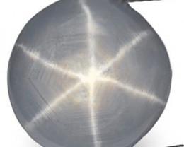 Sri Lanka Fancy Star Sapphire, 4.49 Carats, Grey Round