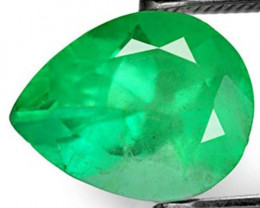 Colombia Emerald, 1.77 Carats, Sea Green Pear