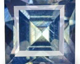 Madagascar Blue Sapphire, 0.67 Carats, Velvety Greenish Blue Square