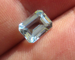 1.43cts Natural Aquamarine Emerald Cut