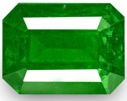 Colombia Emerald, 1.79 Carats, Rich Velvety Royal Green Emerald Cut